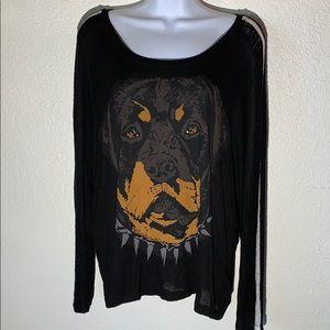 Lauren Moshi Beverly Hills Rottweiler Sweater sz S